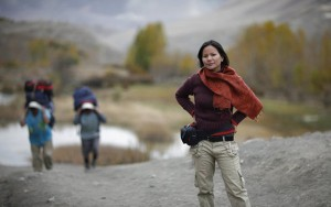 Savitri Rajali, Nepal fixer, on assignment for National Geographic Traveler Netherlands in Mustang, Nepal.